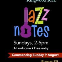 Sundays with Jazz Notes at the Ringwood RSL